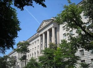 Herbert Hoover building, headquarters in Washington DC of the Department of Commerce