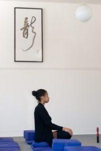 Mindful meditation practitioner