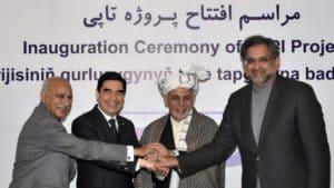 Leaders of Turkmenistan, Afghanistan, Pakistan, and India greet TAPI pipeline inauguration