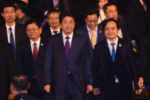 Japanese Prime Minister Abe played a key role in keeping the Trans-Pacific Partnership alive after the US withdrew. President Trump is now reconsidering. Hopefully, the US and the other eleven TPP nations can come to an agreement, for both economic and strategic reasons (thwarting Chinese imperialism in the Pacific).